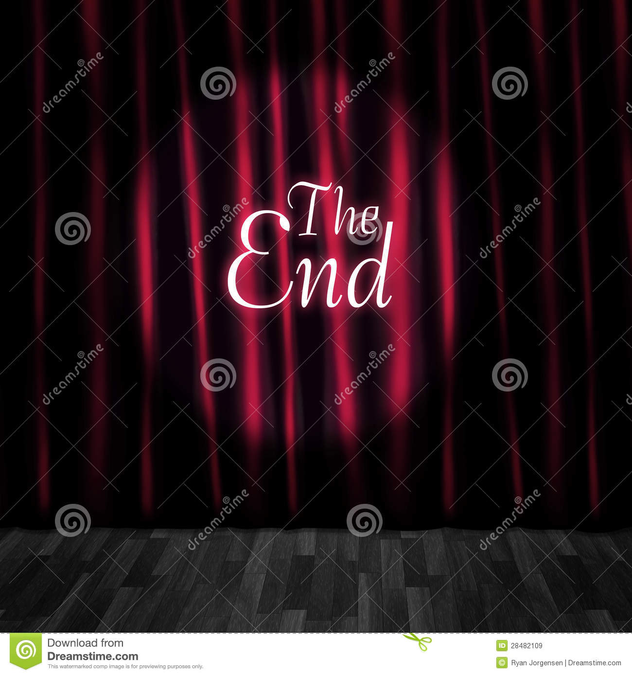 Closed Theatre Stage Curtains At Performance End Royalty Free Stock ...