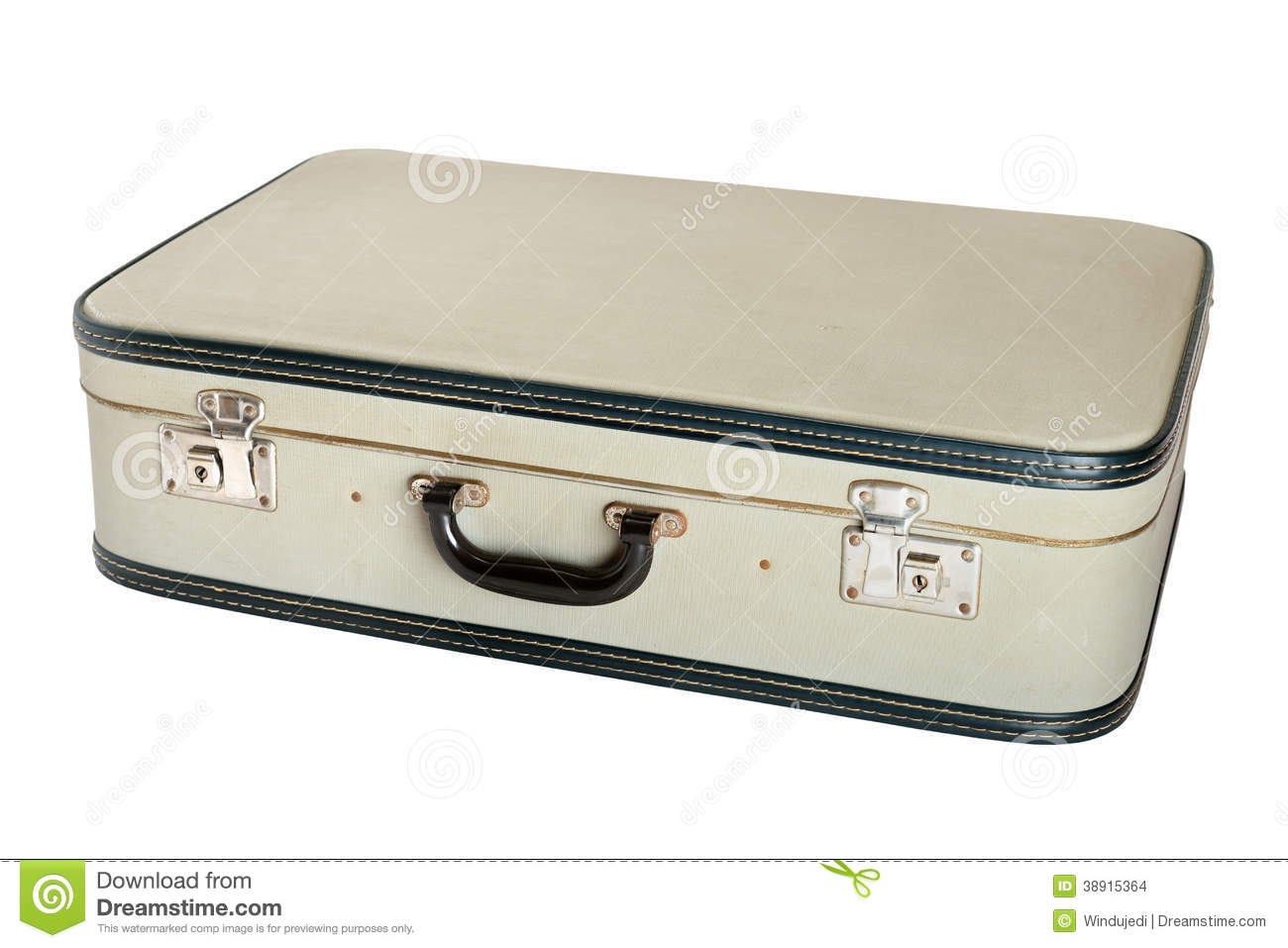 Closed Vintage Suitcase Stock Photo - Image: 38915364
