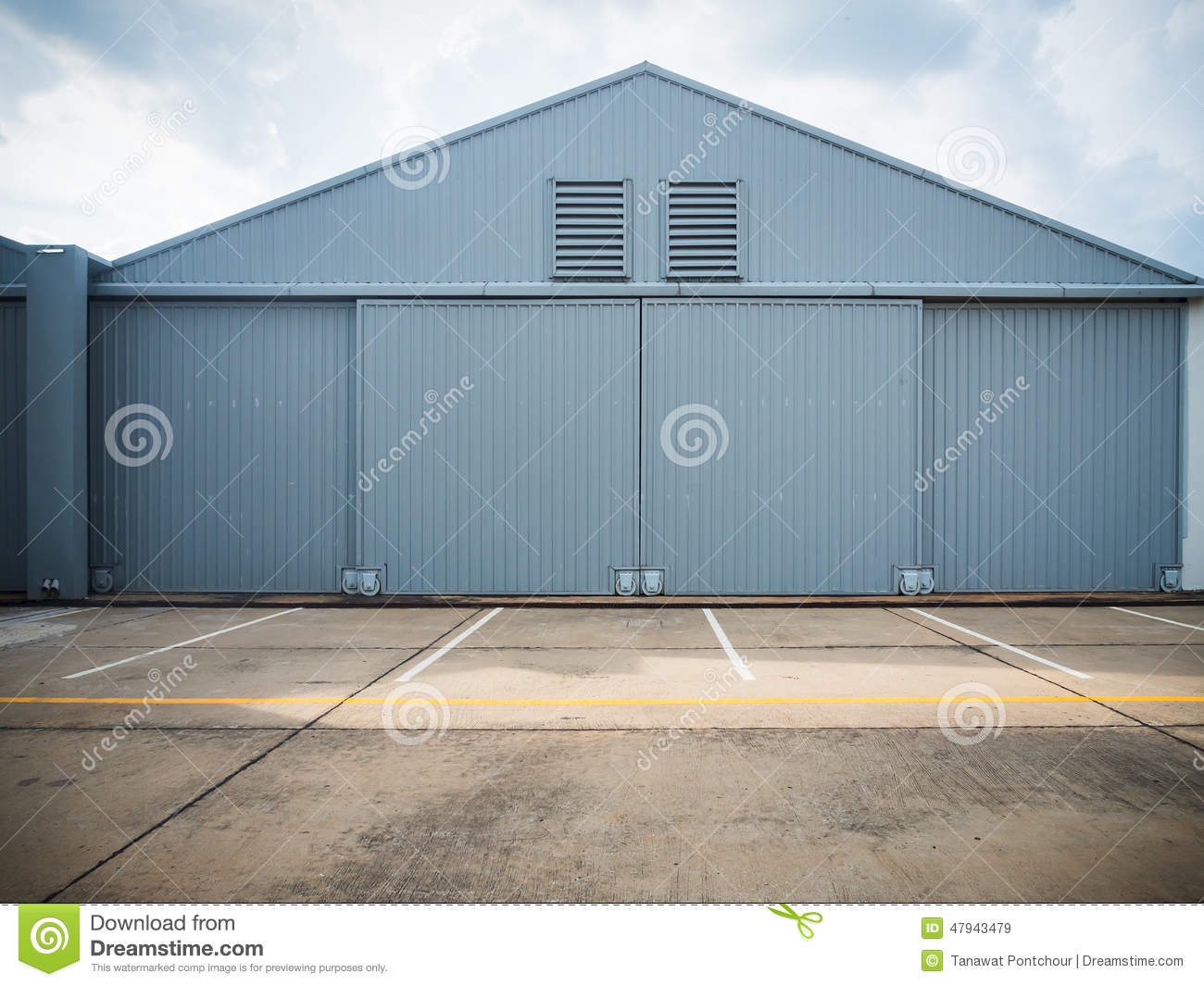 & Closed warehouse doors. stock image. Image of aging metal - 47943479