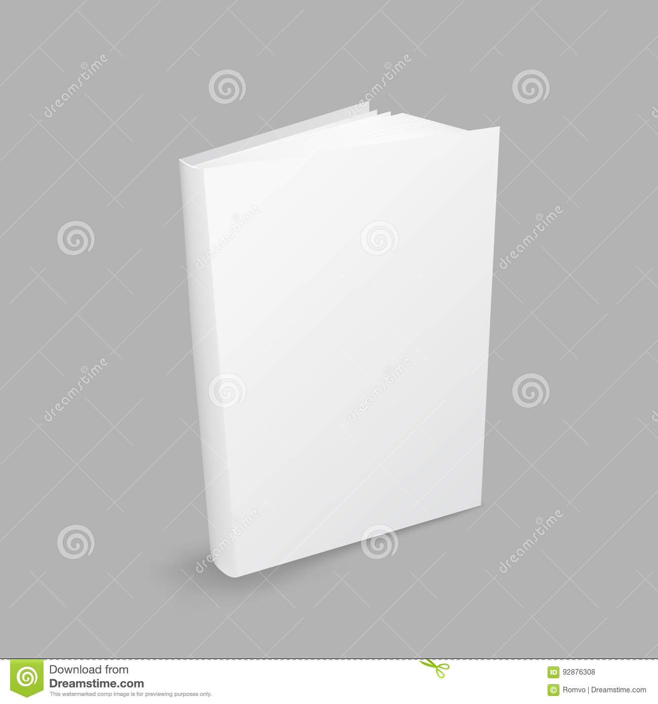 Closed white book stock vector illustration of notebook 92876308 closed white book buycottarizona Gallery