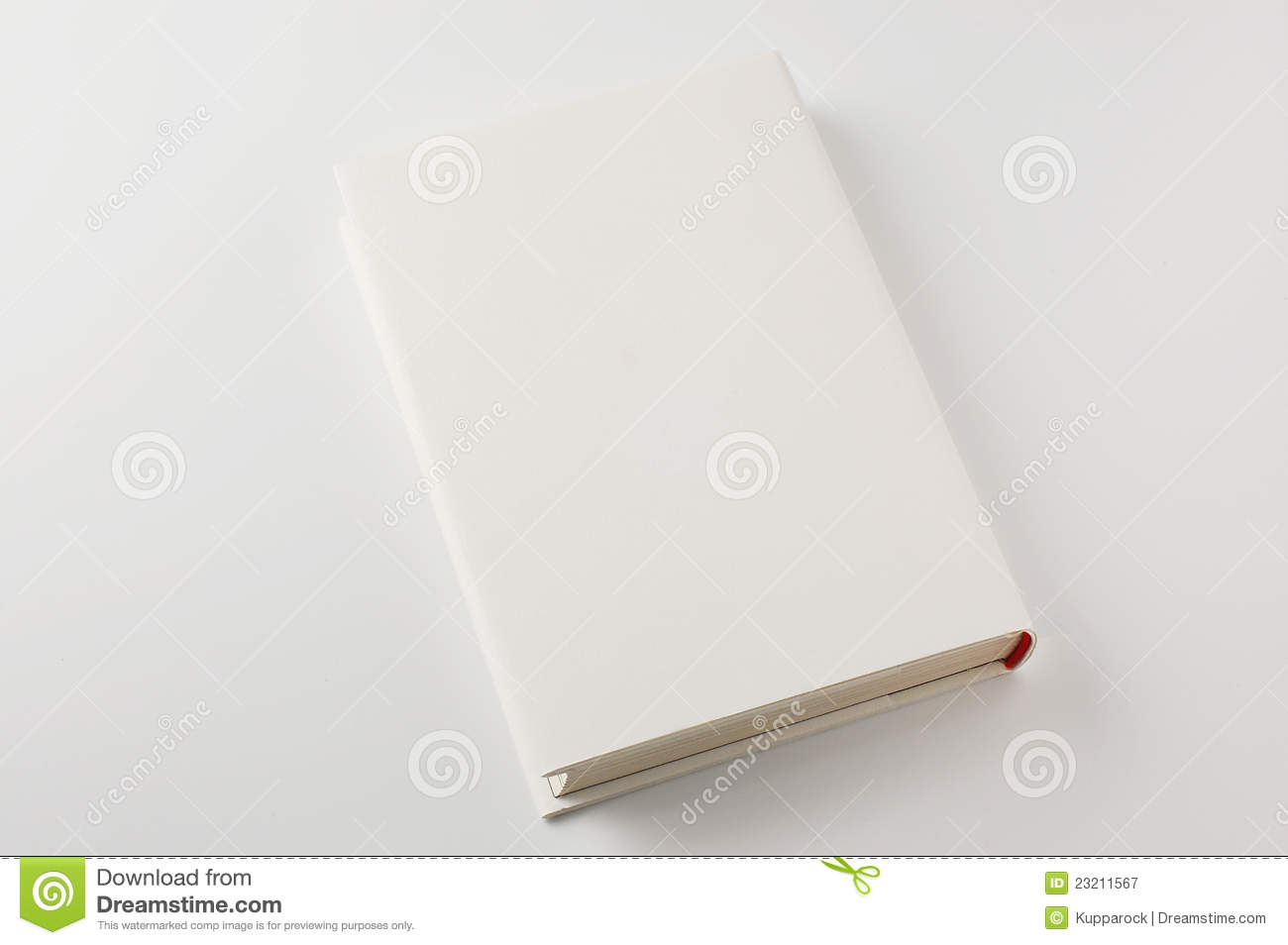 Book Cover White Background : Closed white cover book on background royalty free