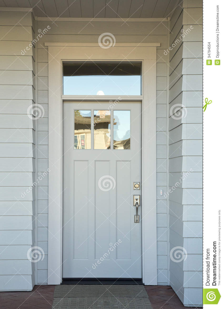 Closed white front door stock photo image of building for White front door