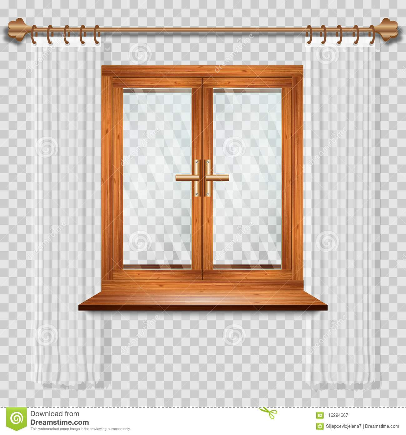 Transom Windows A Useful Design Element: Closed Window Stock Vector. Illustration Of Design, Frame