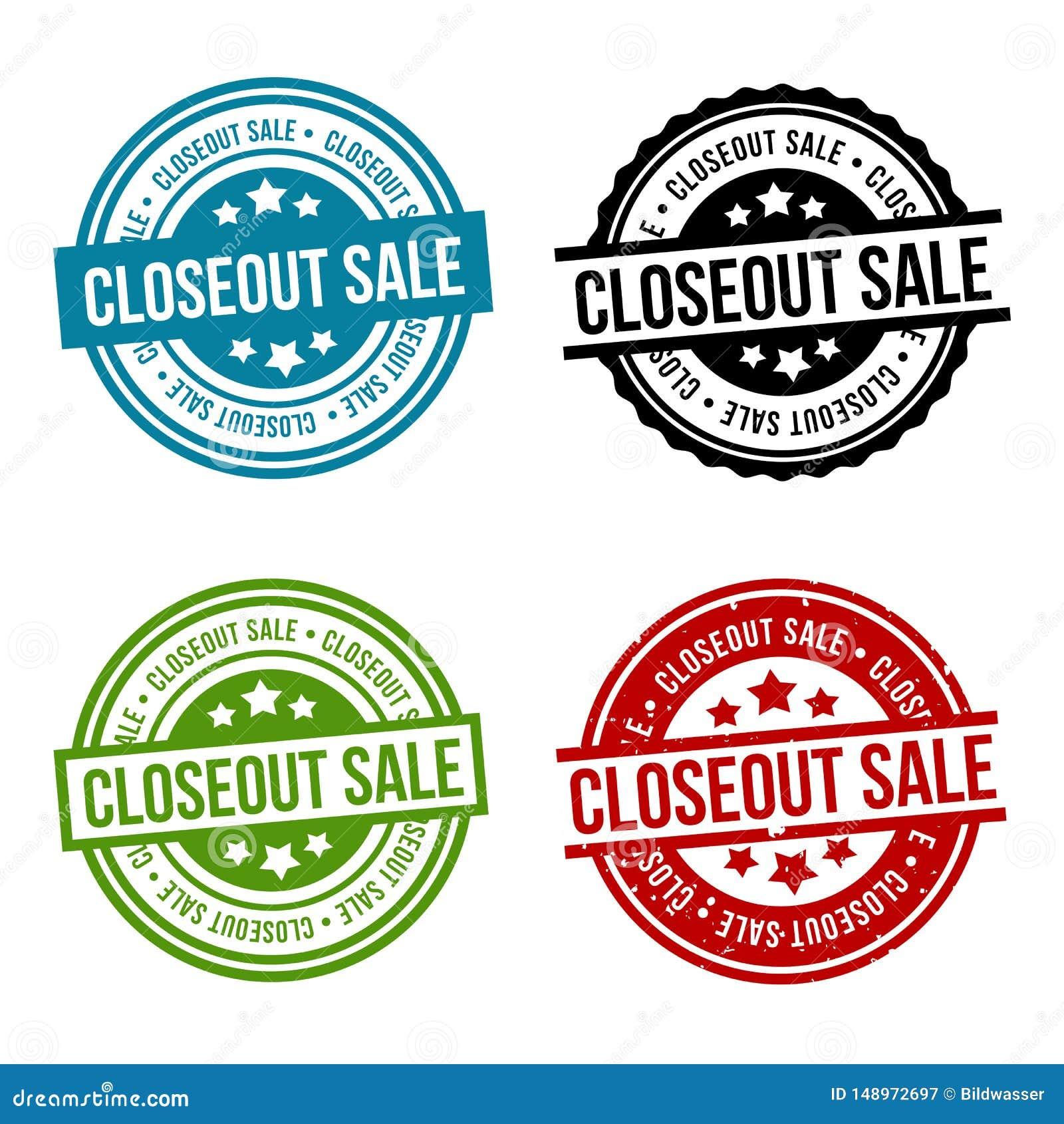 Closeout sprzeda?y Round Stemplowa kolekcja Eps10 wektoru odznaka