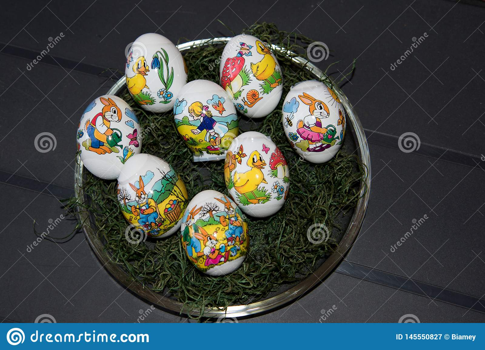 Closer view on easter eggs