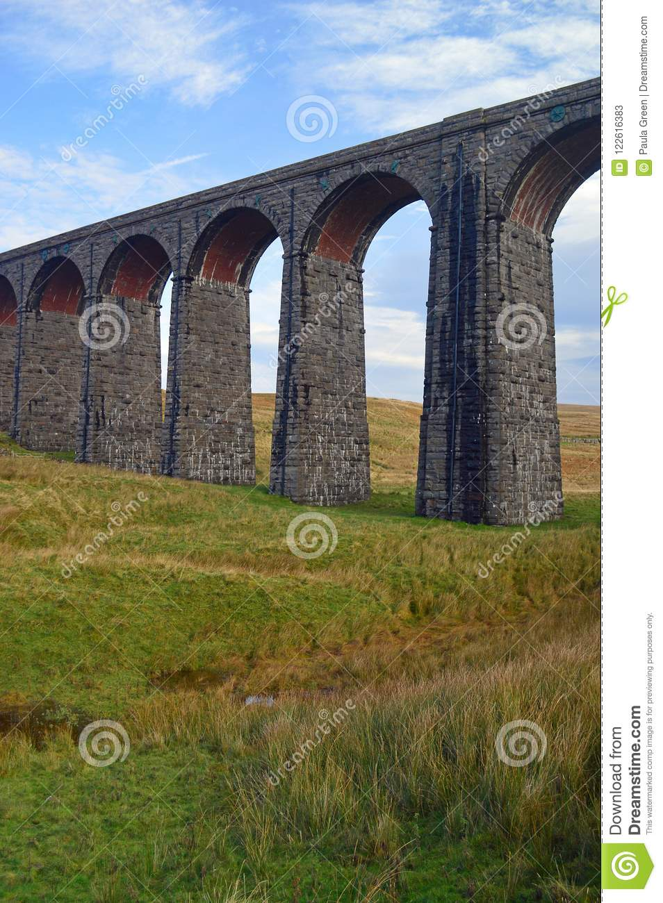 Closer view of the Ribblehead Viaduct eastern side