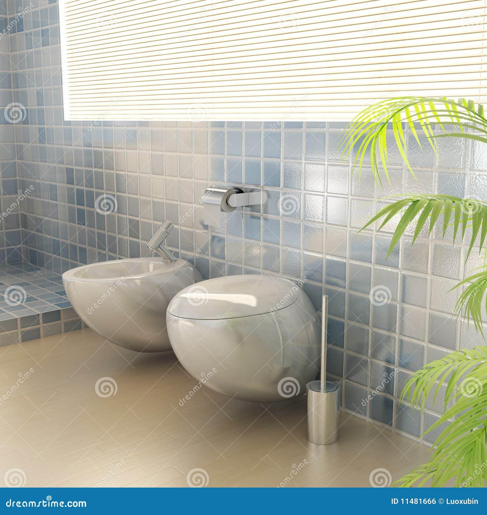 Closestool Em Um Banheiro Moderno Imagem de Stock Royalty Free  Imagem 1148 # Um Banheiro Moderno
