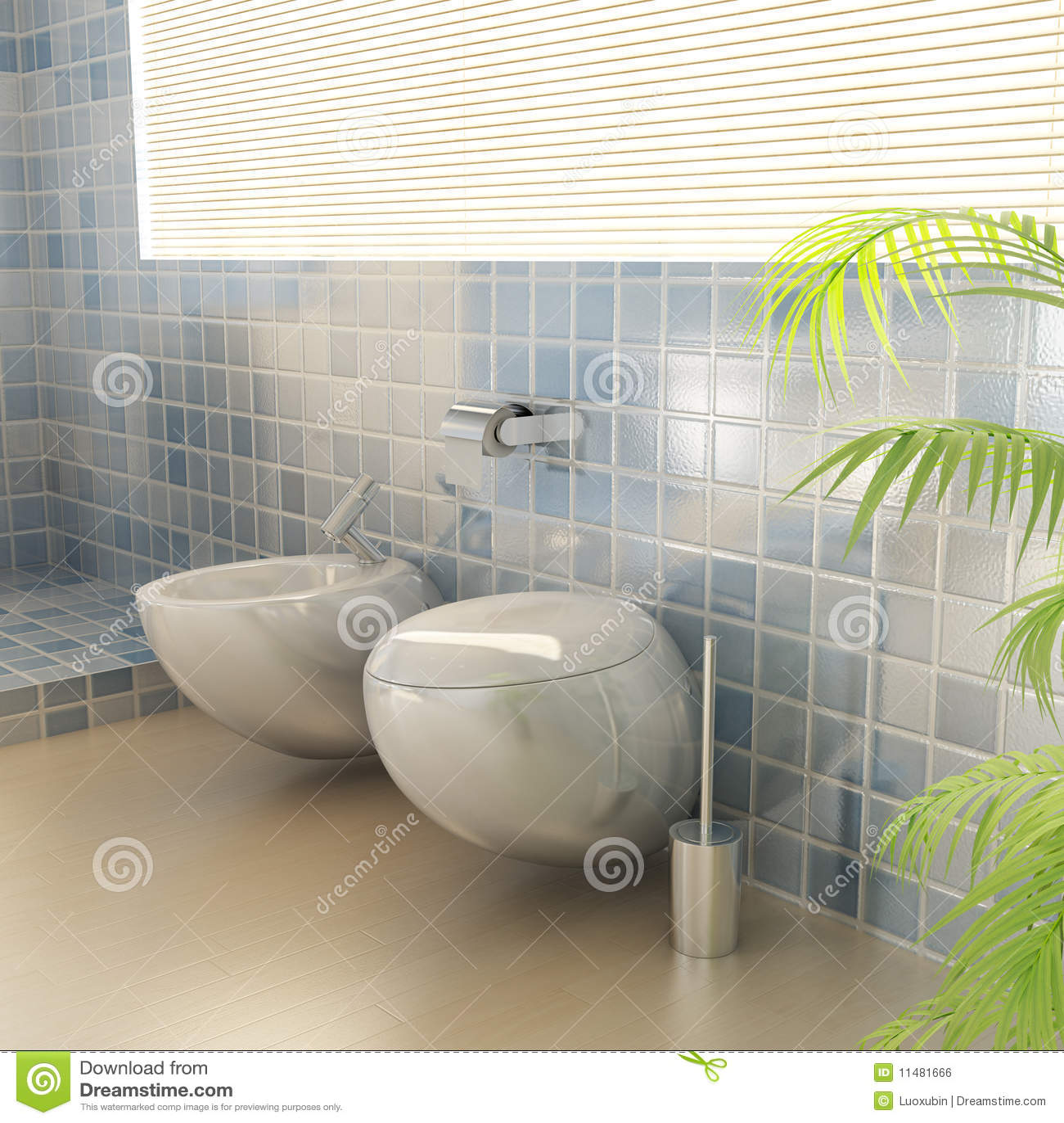 Closestool en un cuarto de baño moderno