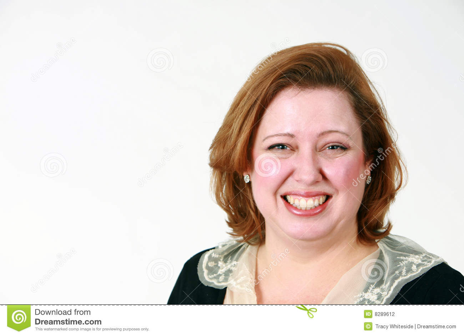 Closesup微笑的妇女