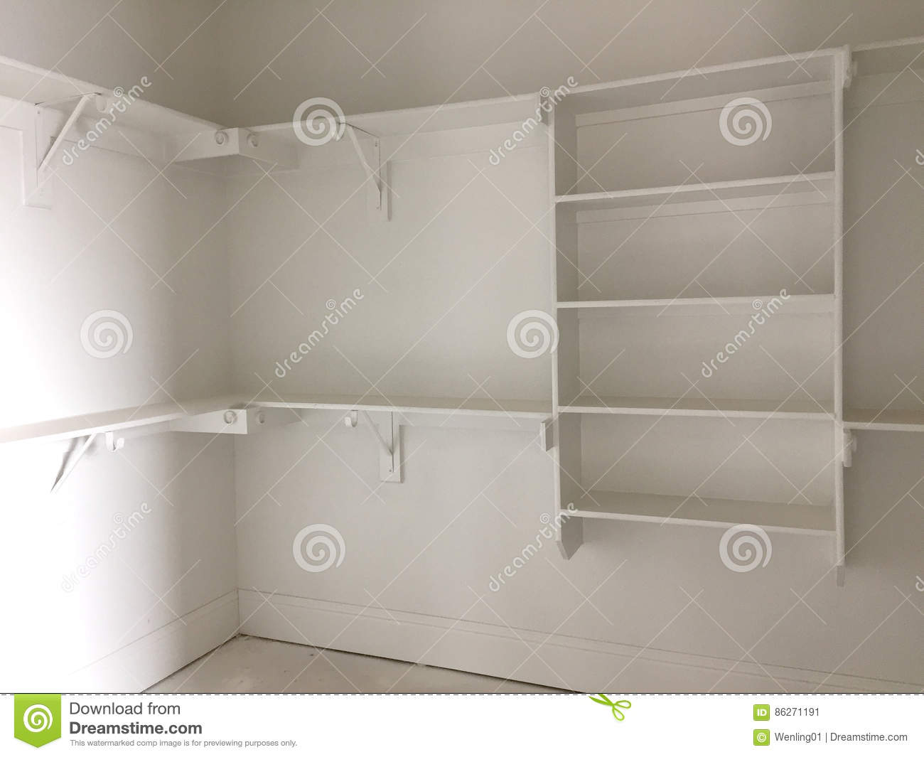 A closet for clothing in new house