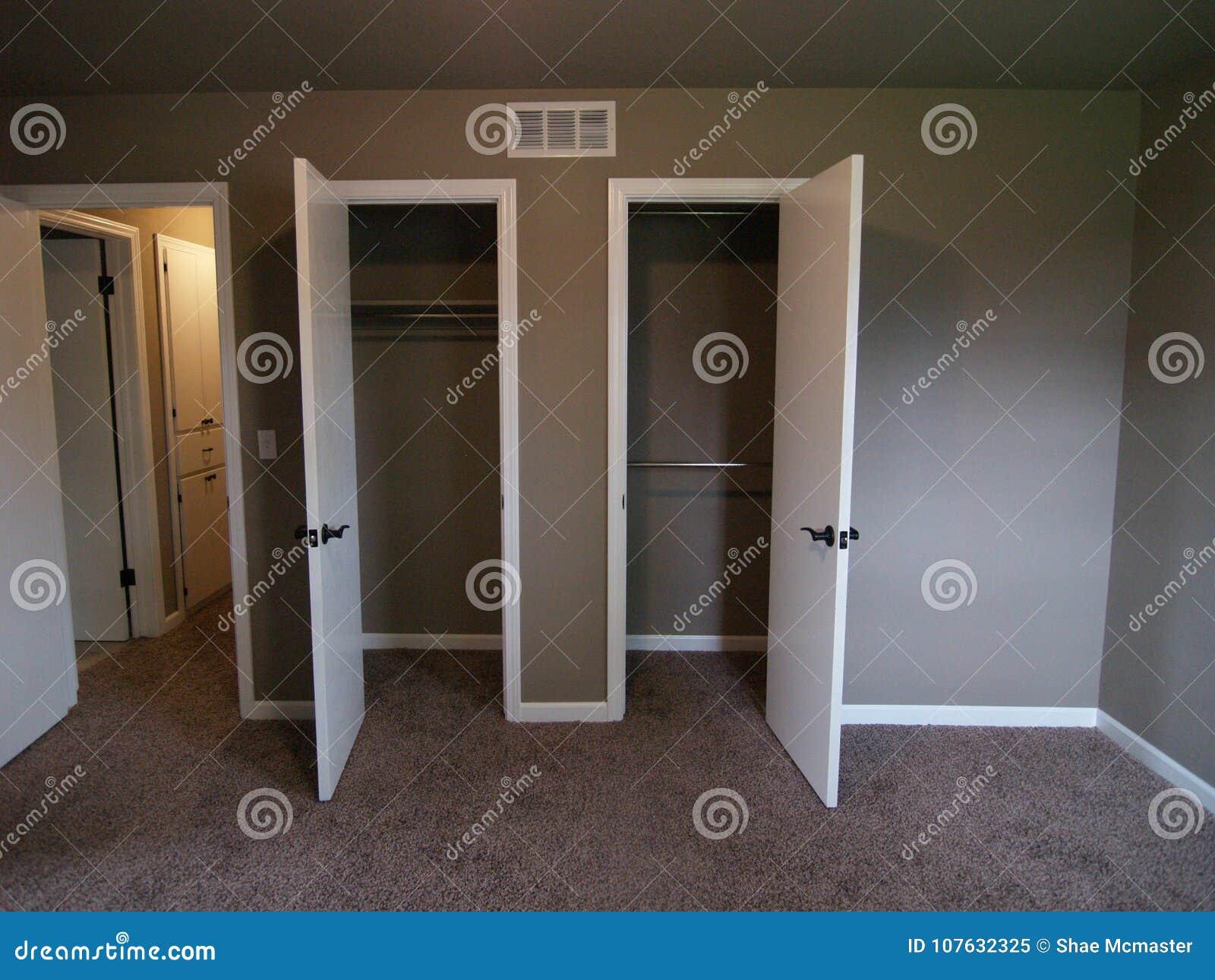 Closet Doors in Bedroom of Empty House