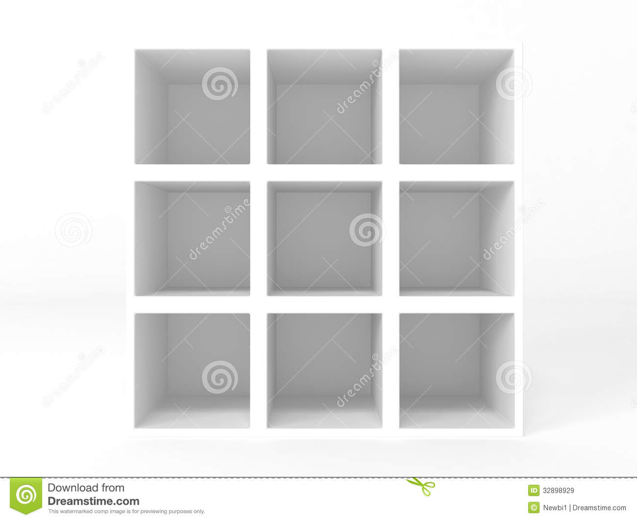 Closet With Empty Shelves Illustration Of Royalty Free Stock Images
