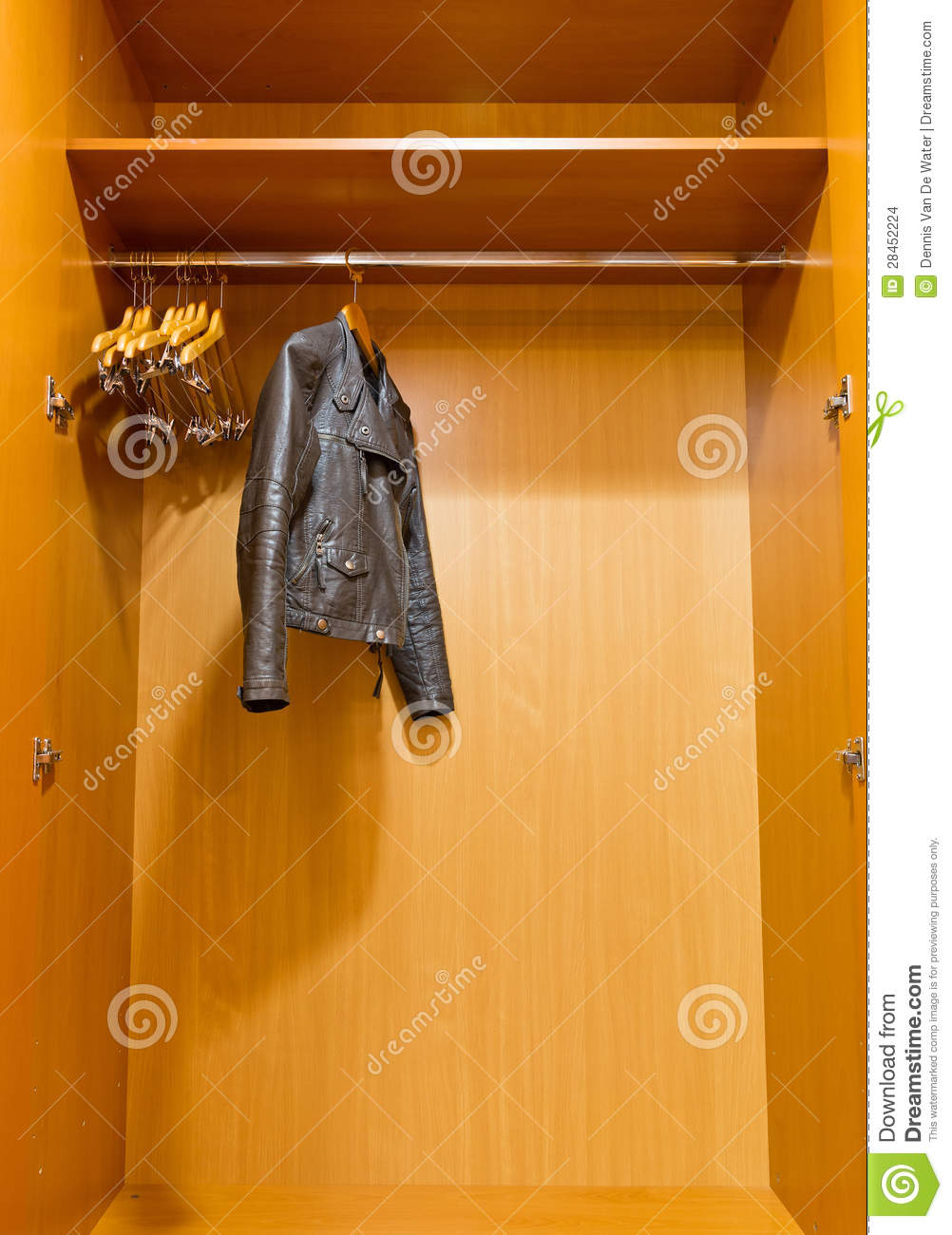 Royalty Free Stock Photo. Download Closet Leather Jacket ...