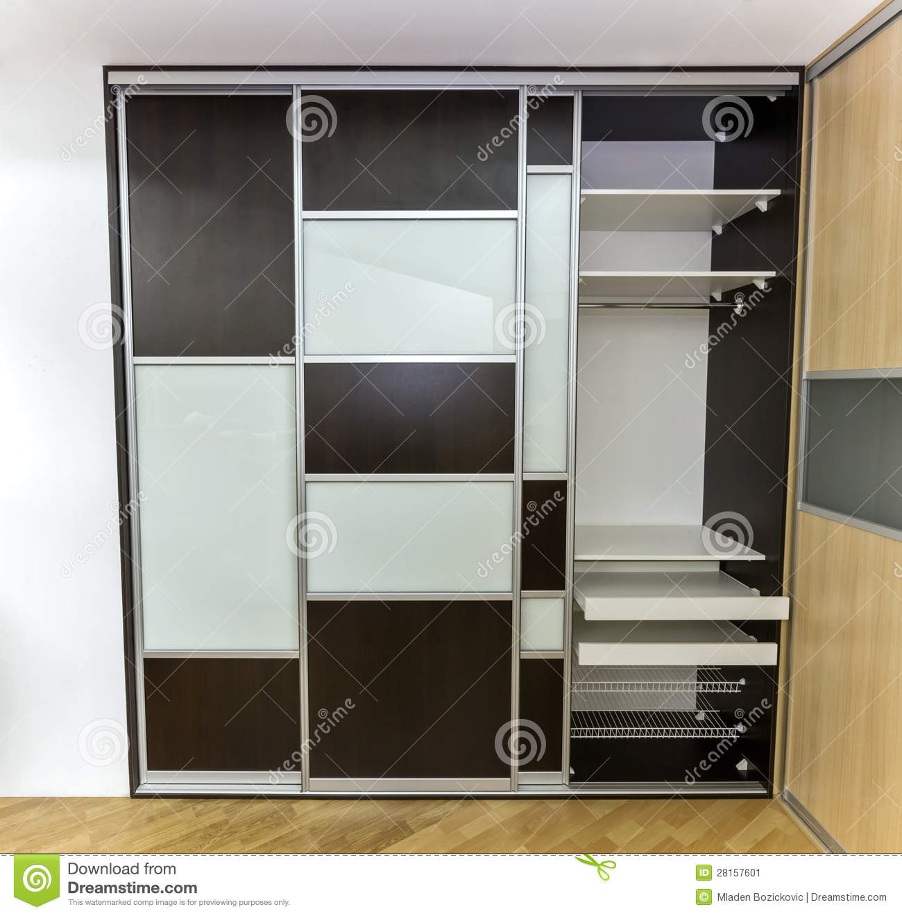 closet with sliding doors stock image  image of opaque