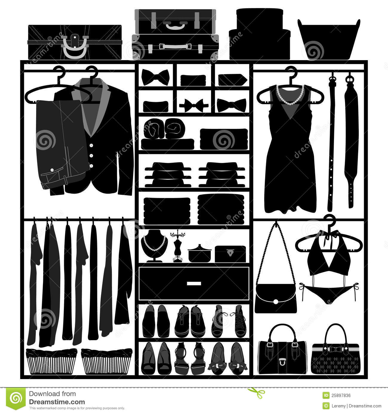 Closet Wardrobe Cupboard for Man Woman Fashion