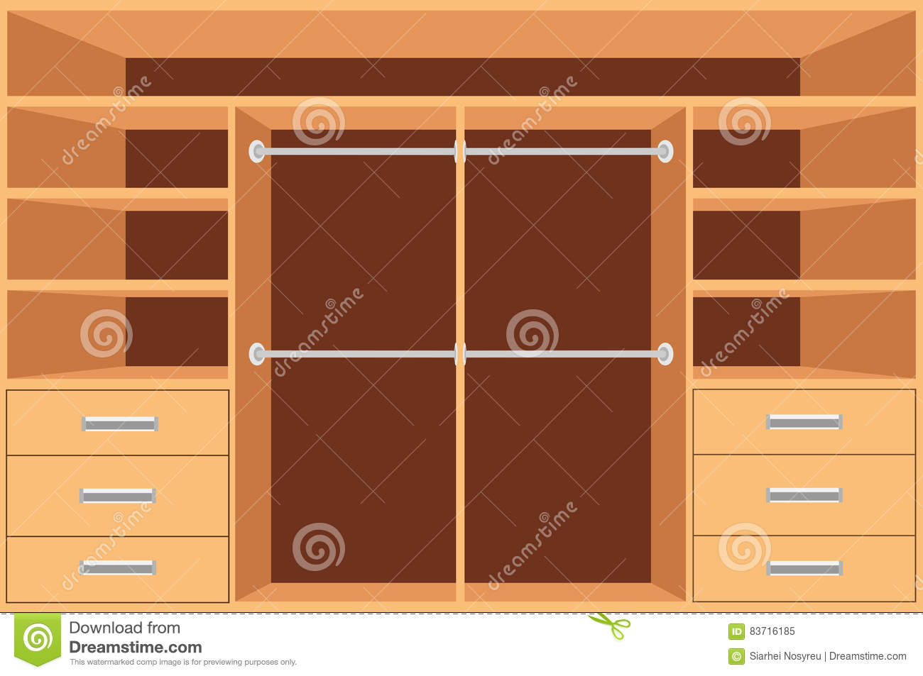 Modern cupboard with drawers royalty free stock - Armarios para ropa ...