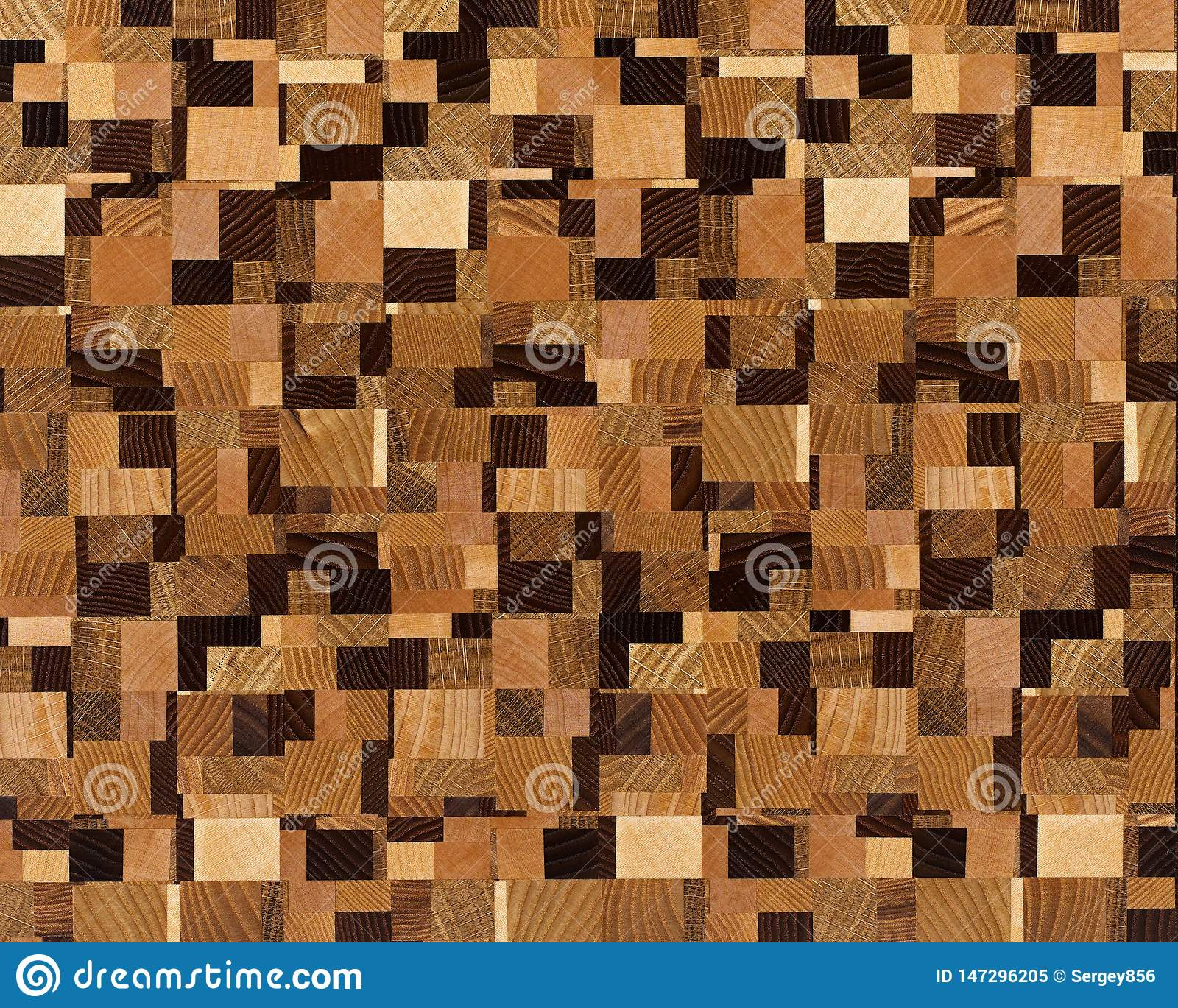 Wenge Oak Solid Wood Flooring closeup abstract texture of solid wood stock illustration