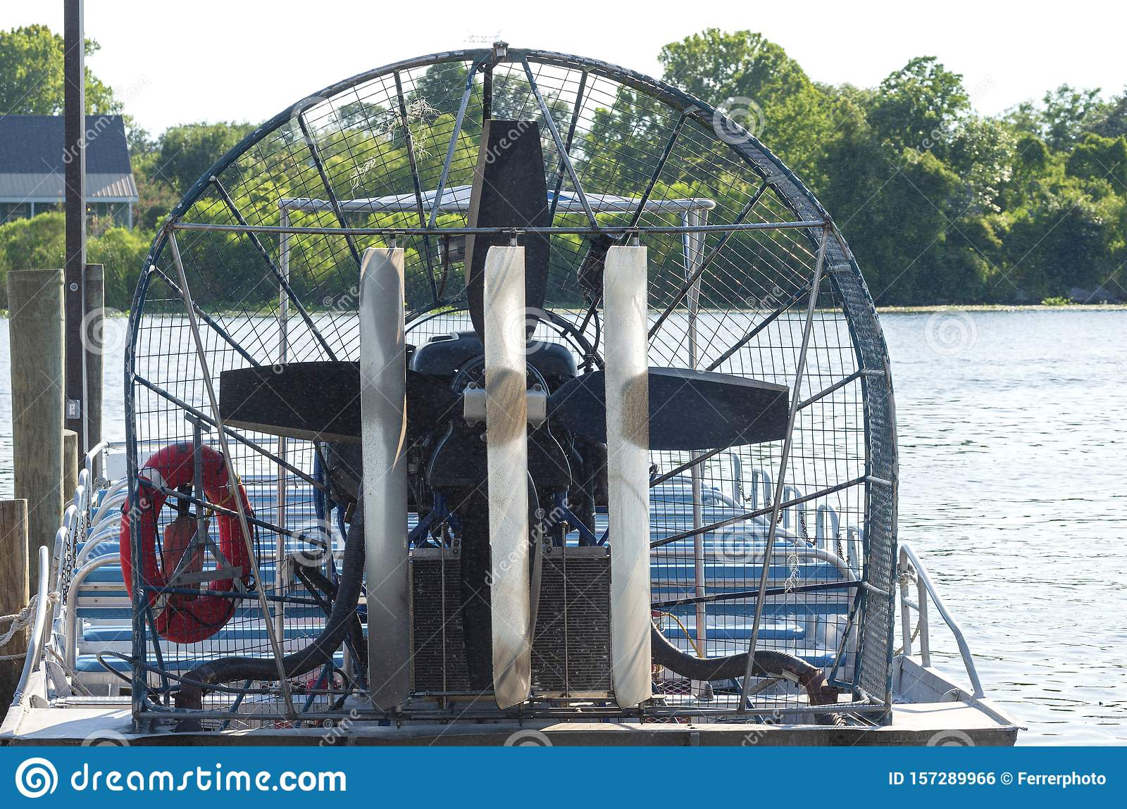 Closeup of Airboat at Pier