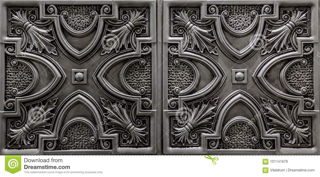pvc antique silver ceiling black brilliance pin tiles
