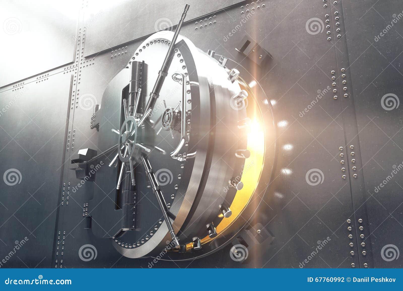 Closeup av dörren för bankvalv
