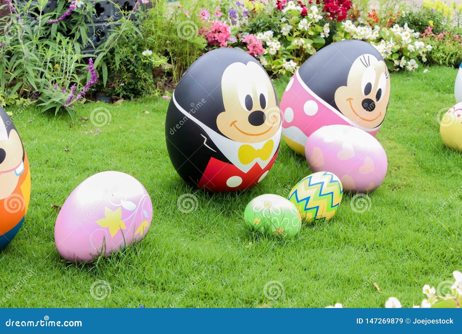 Closeup av det Micky&Minnie infallägget i Hong Kong disneyland på 30 mars, 2019