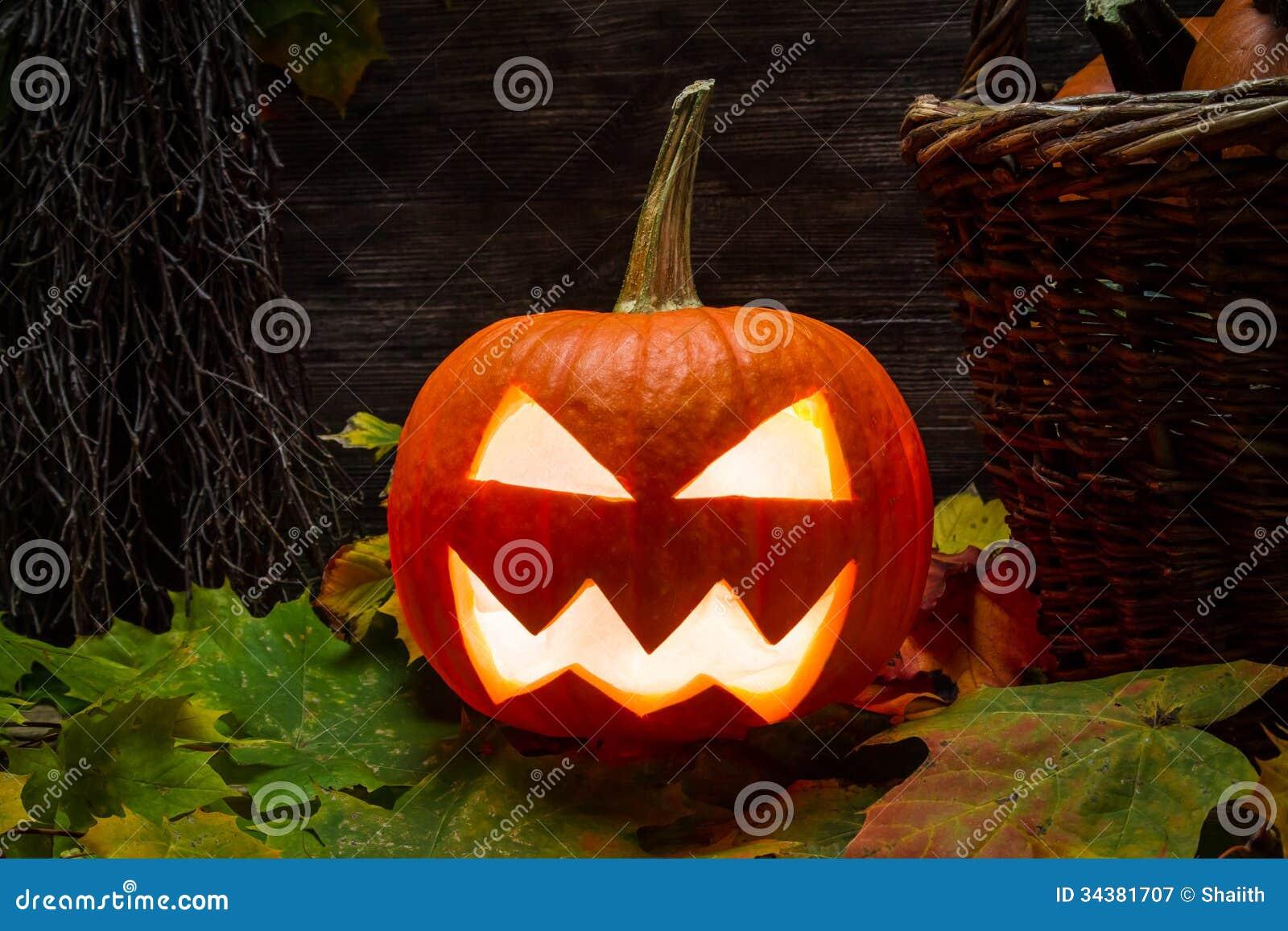 Closeup av halloween pumpa