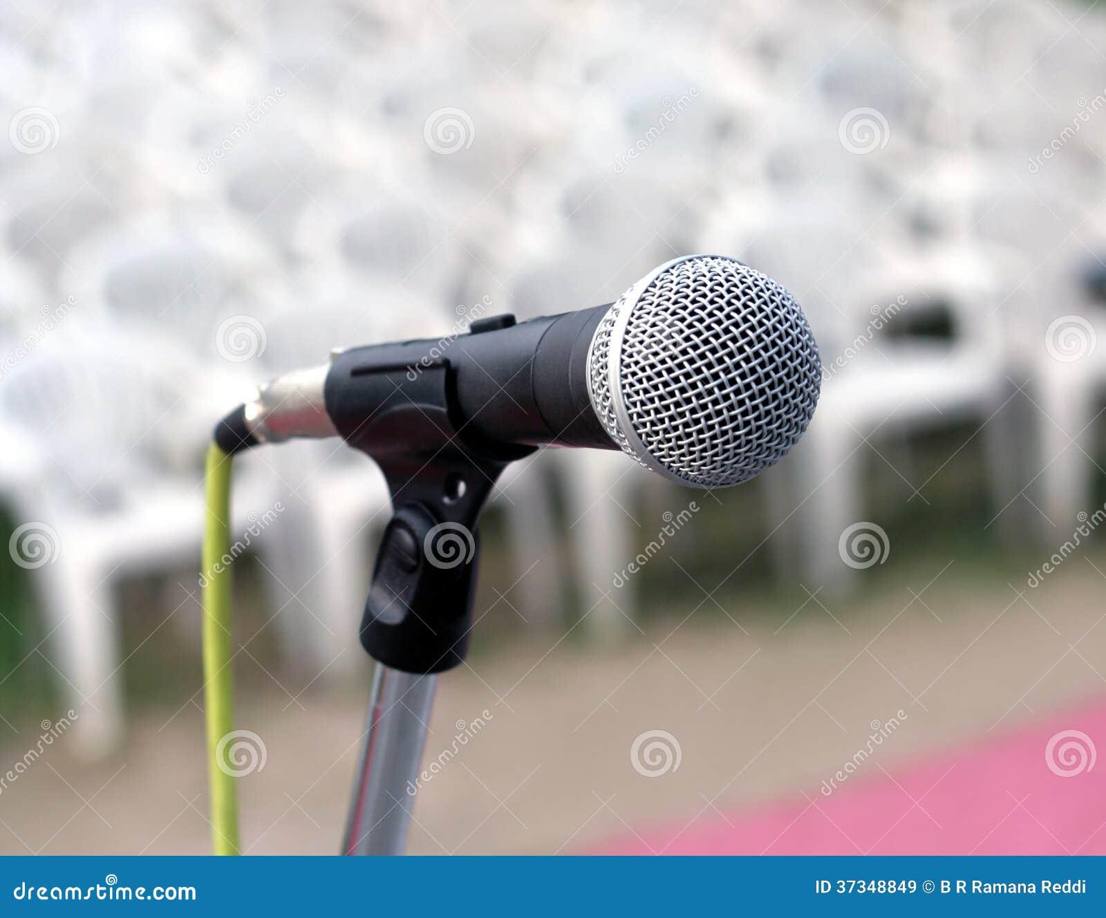 Closeup av mikrofonen