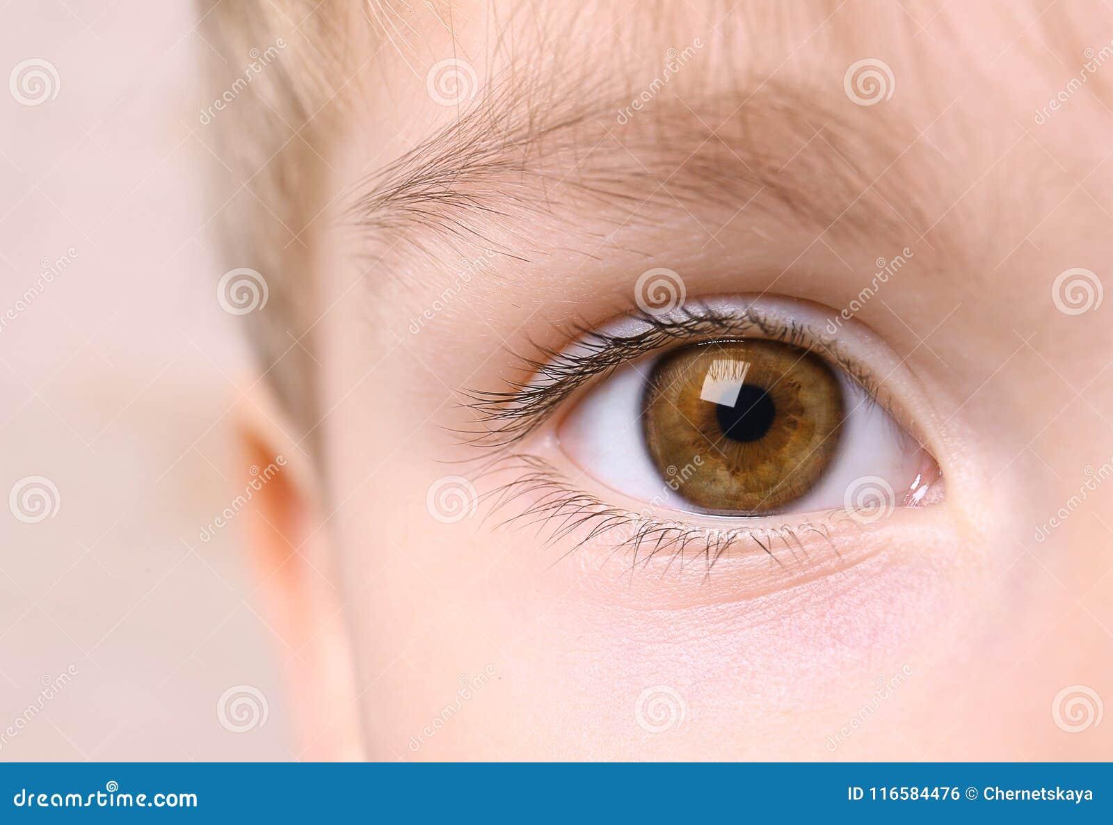 Closeup av pojkeögat
