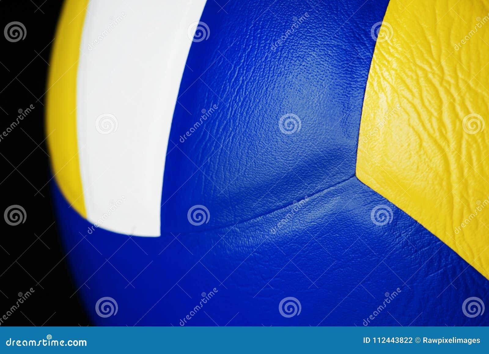Closeup av volleybollsportobjektet