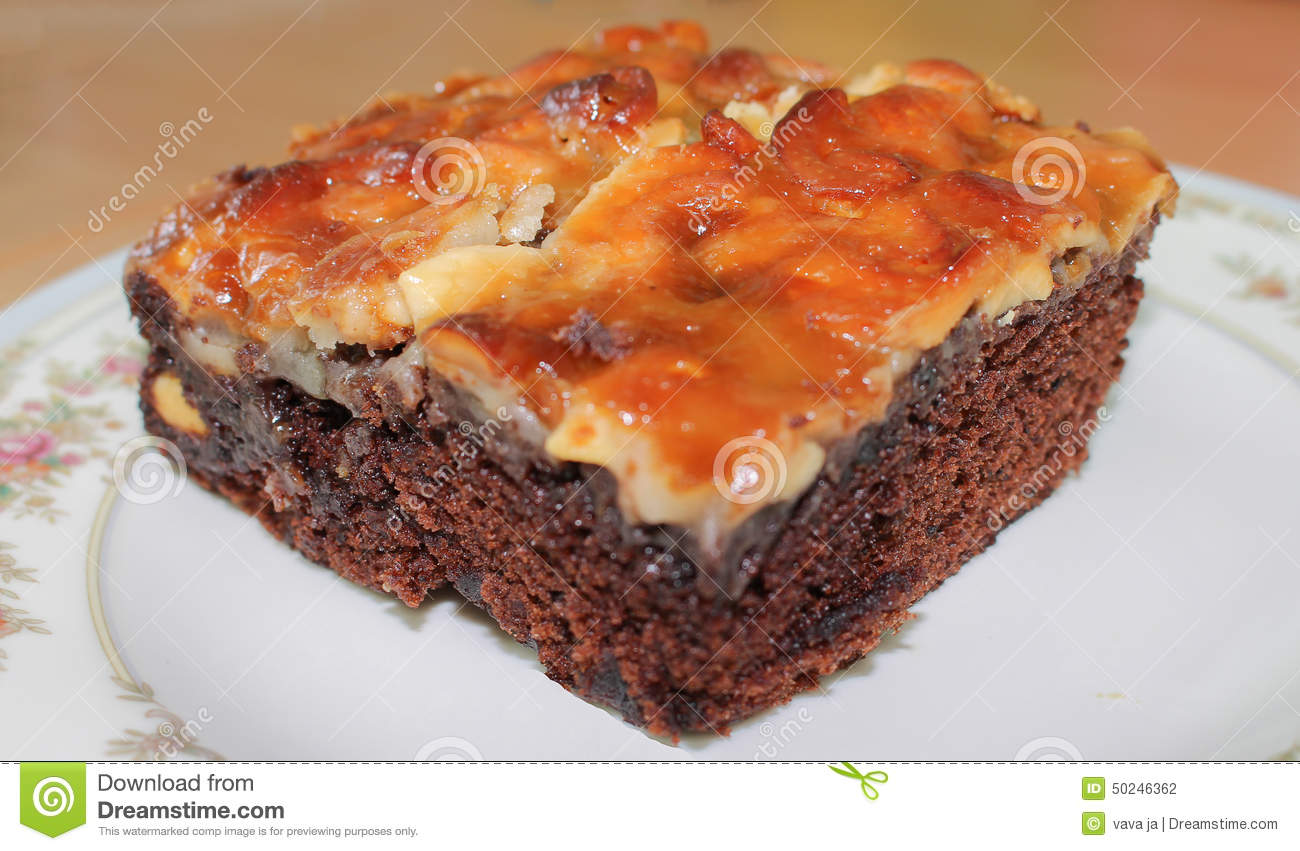 Closeup Baked Brownie Stock Photo - Image: 50246362