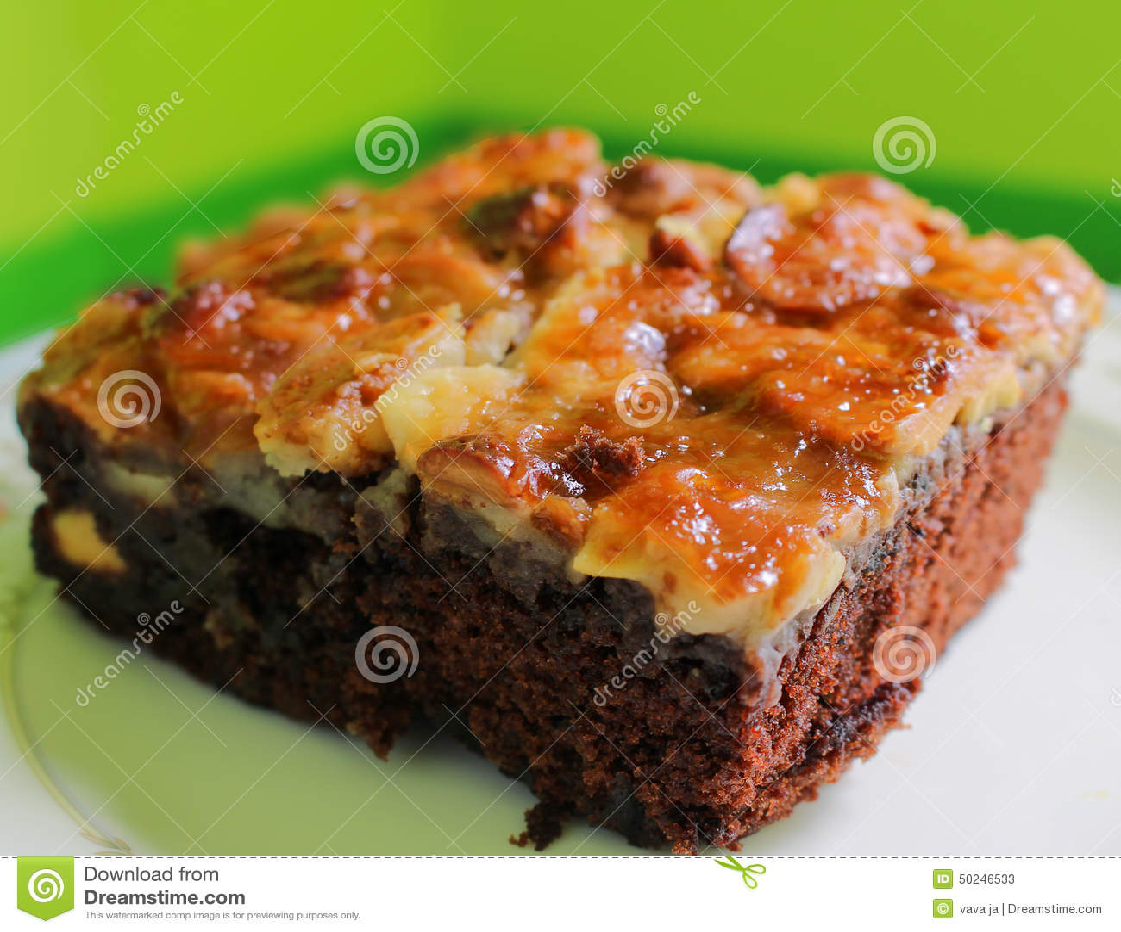 Closeup Baked Brownie Stock Photo - Image: 50246533