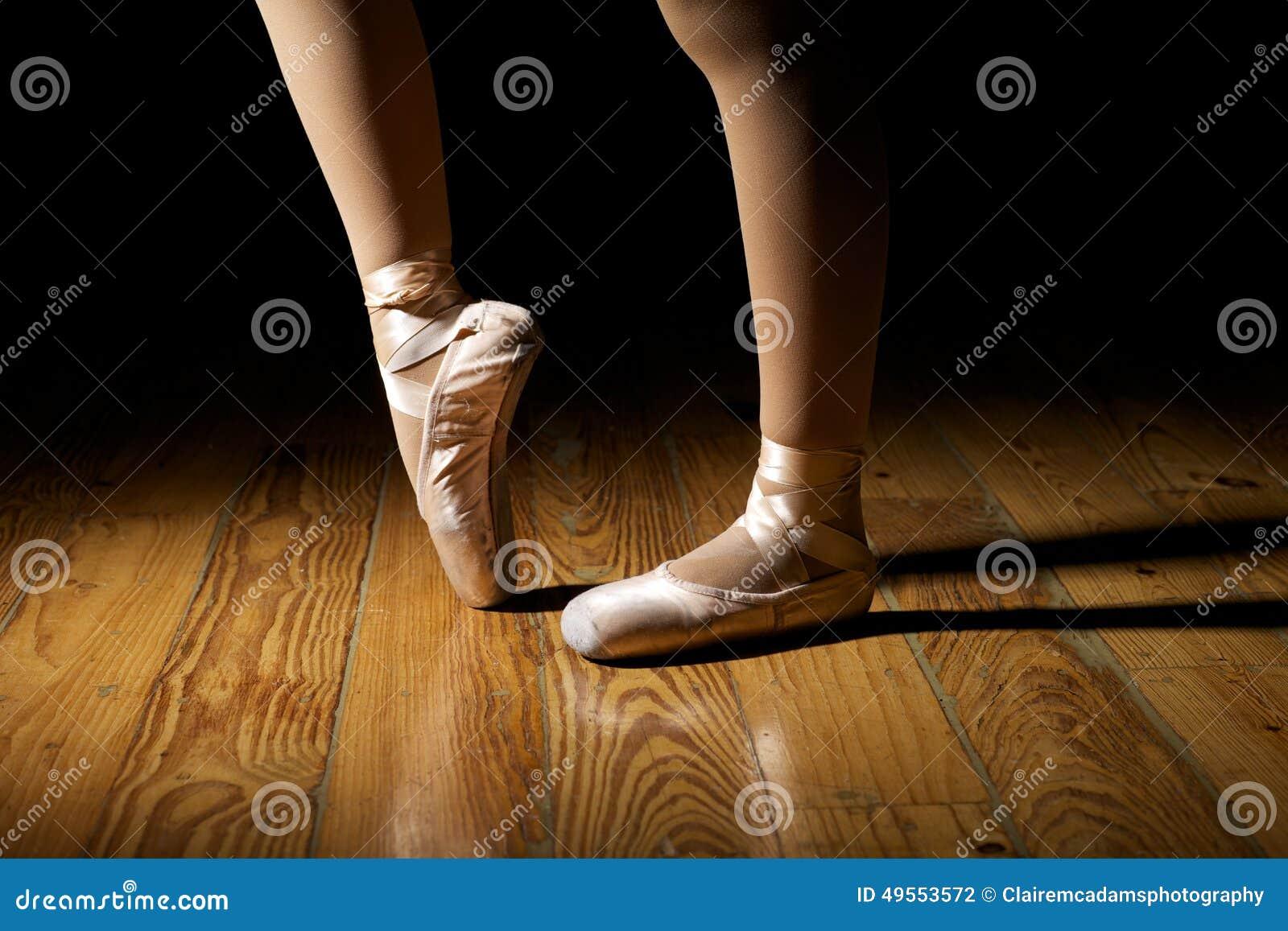 Closeup of Ballerina Feet