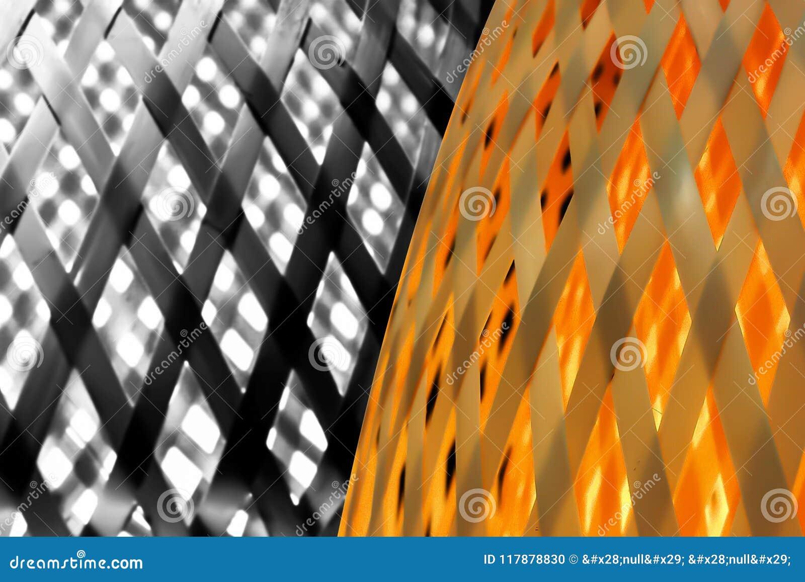 Closeup On Beautiful Art And Craft Of Wood Lattice Stock Photo