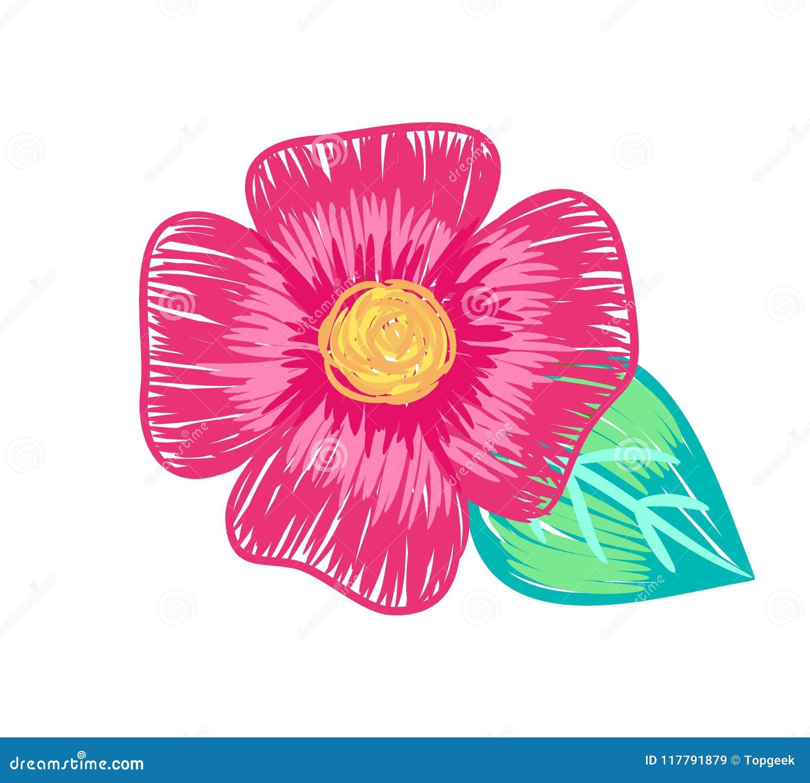 Closeup of big flower poster vector illustration stock vector closeup of big flower poster vector illustration mightylinksfo