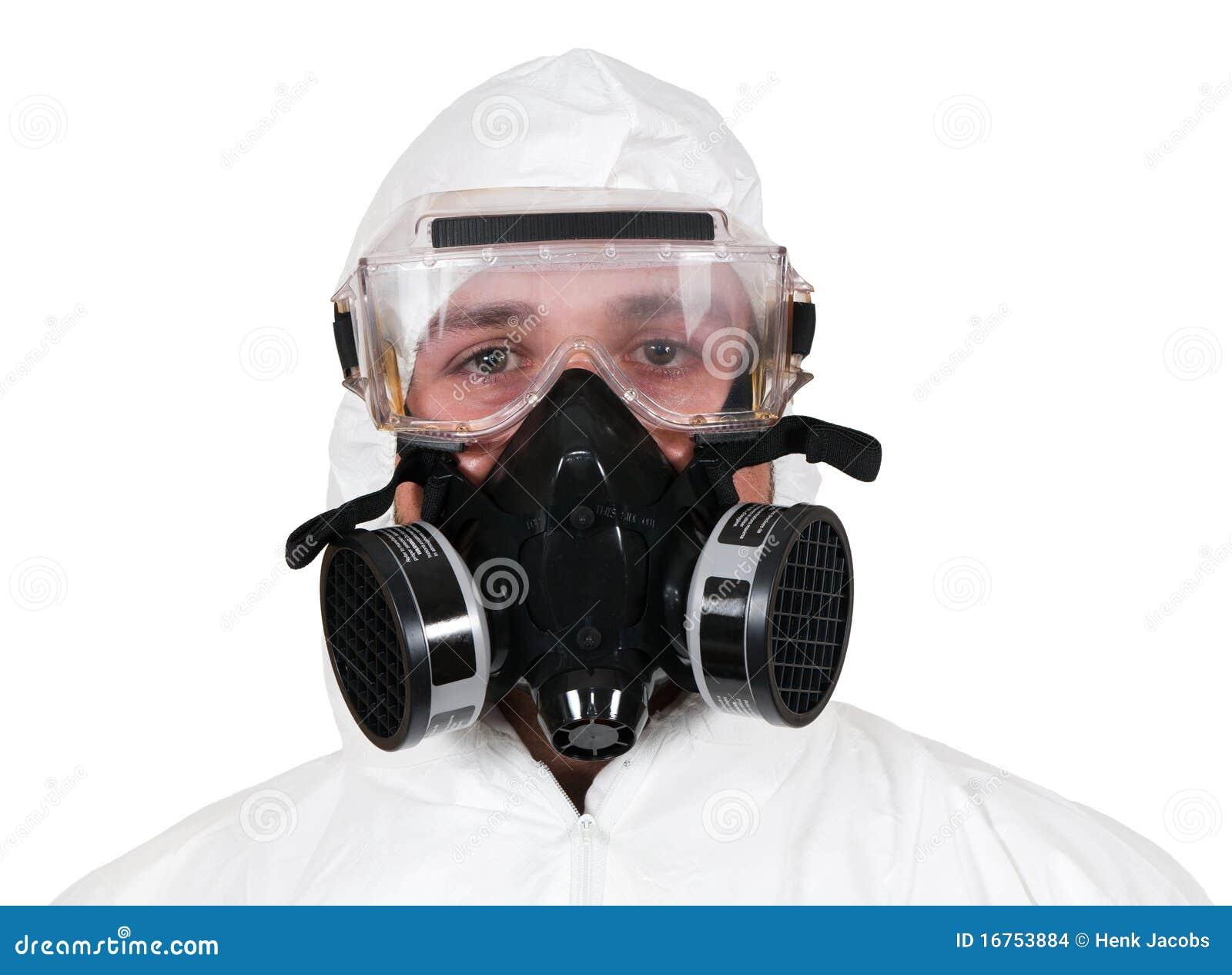 Closeup of Bio-Hazard Man