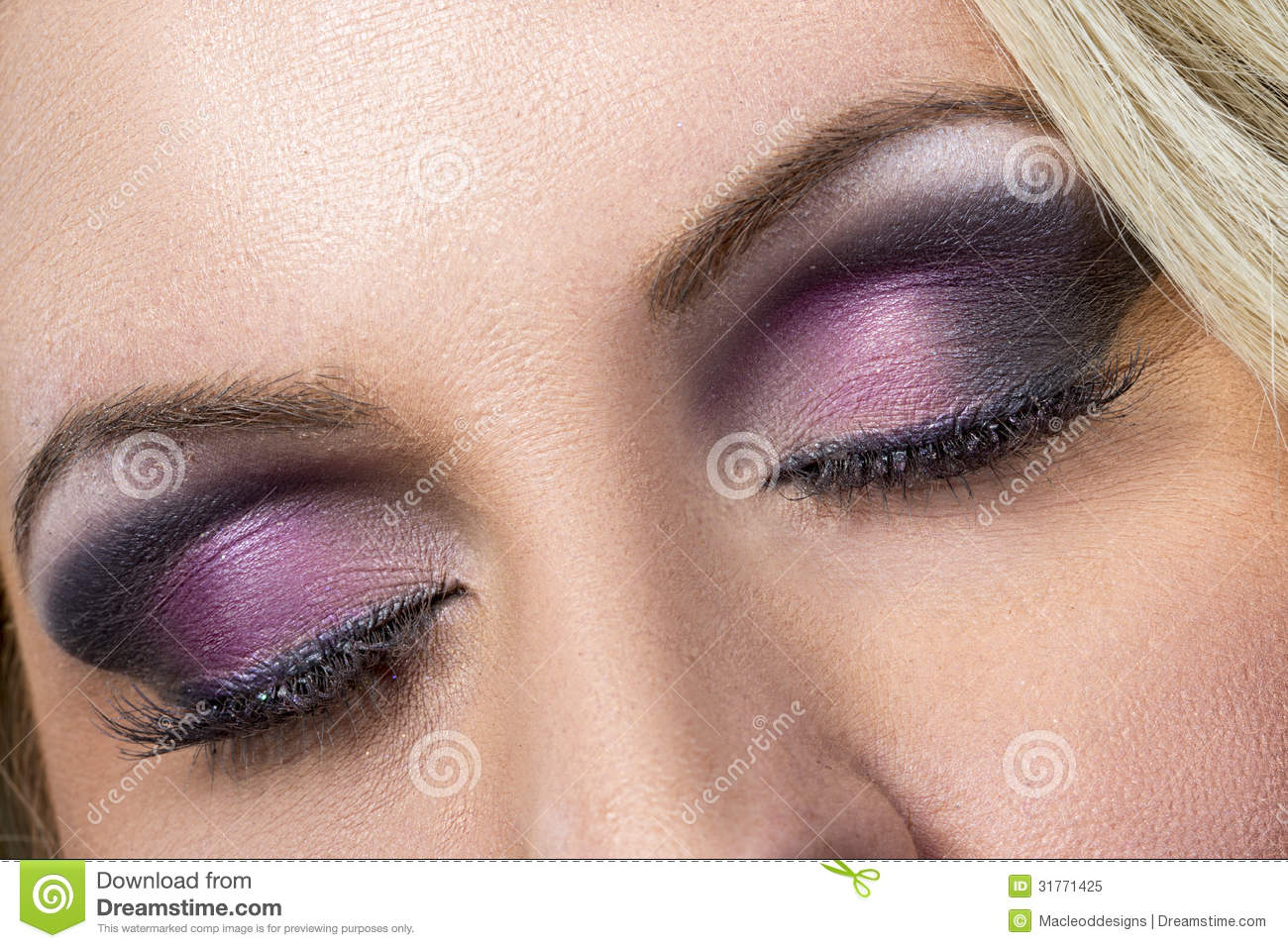 Makeup eye purple close up photo pictures