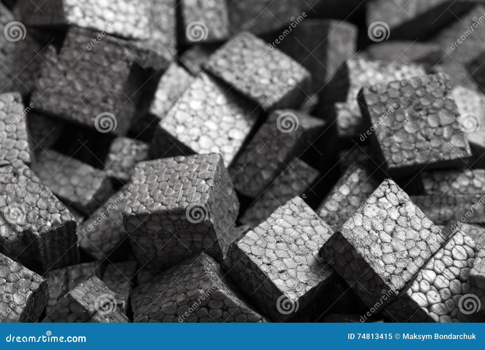 Closeup Background Of Styrofoam Pellets Royalty Free Stock