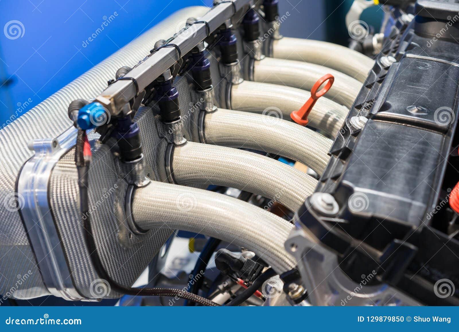 closeup of a BMW engine