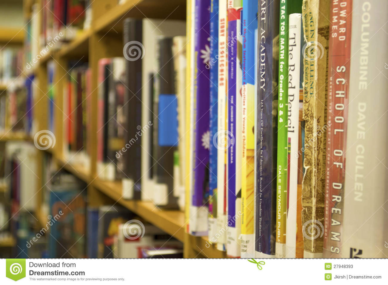 Closeup Of Books On A Bookshelf Download Preview