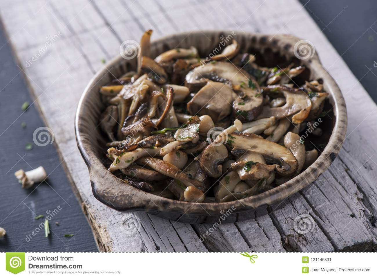 Cooked mixed mushrooms