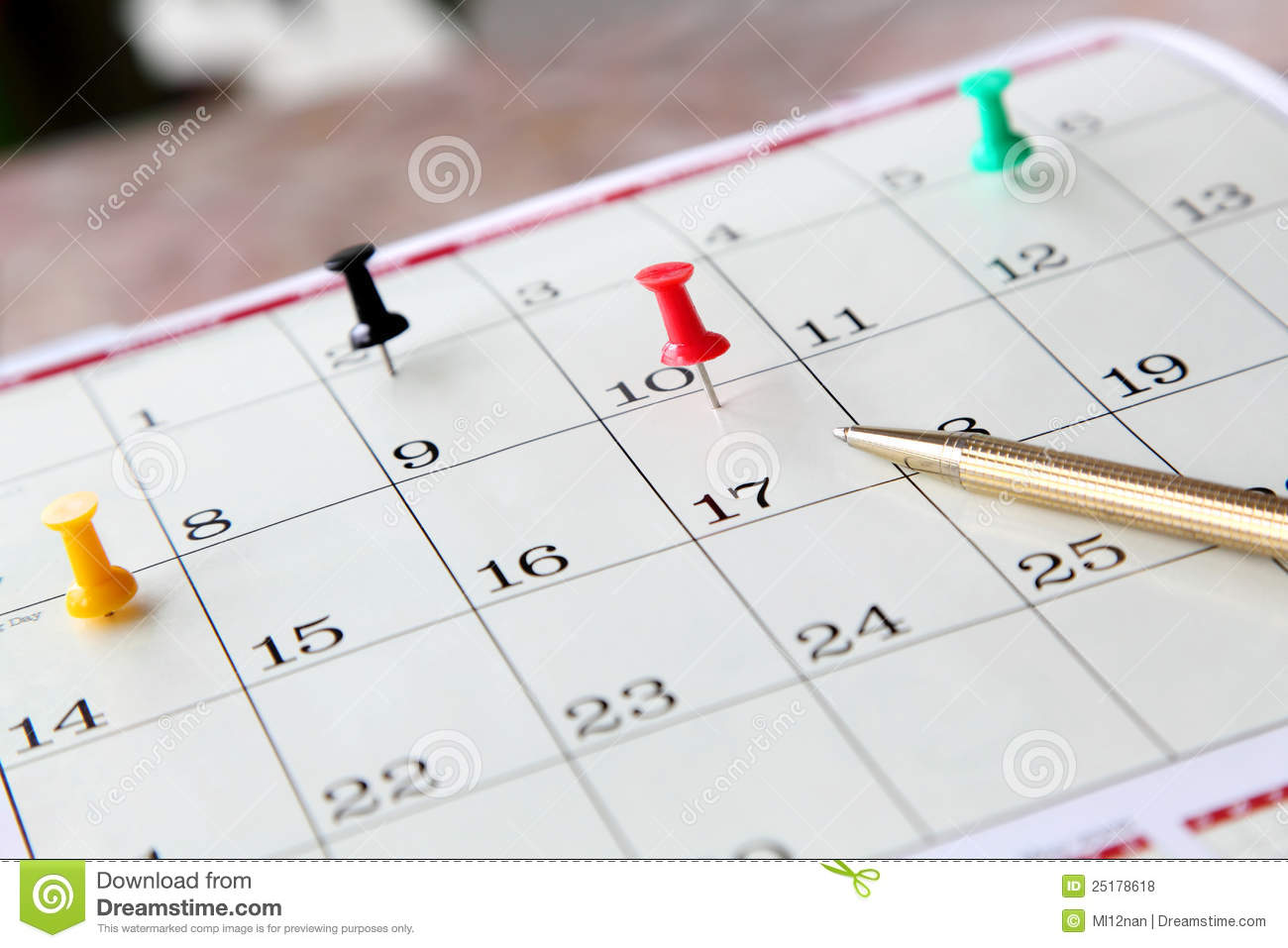 closeup of calendar page stock photo  image of date