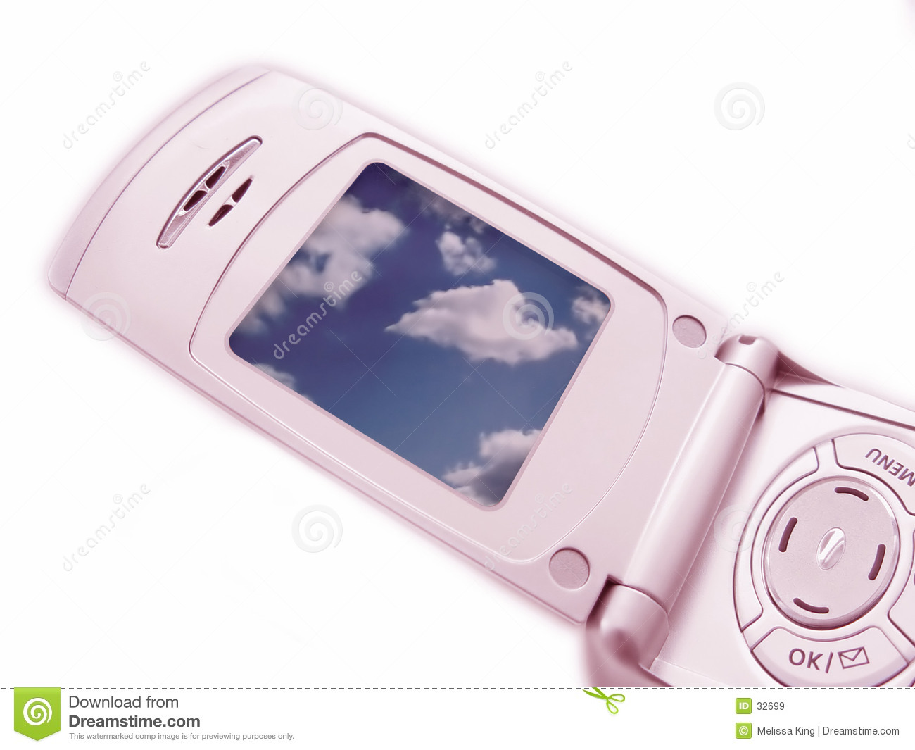 Closeup of Camera Phone - Pink