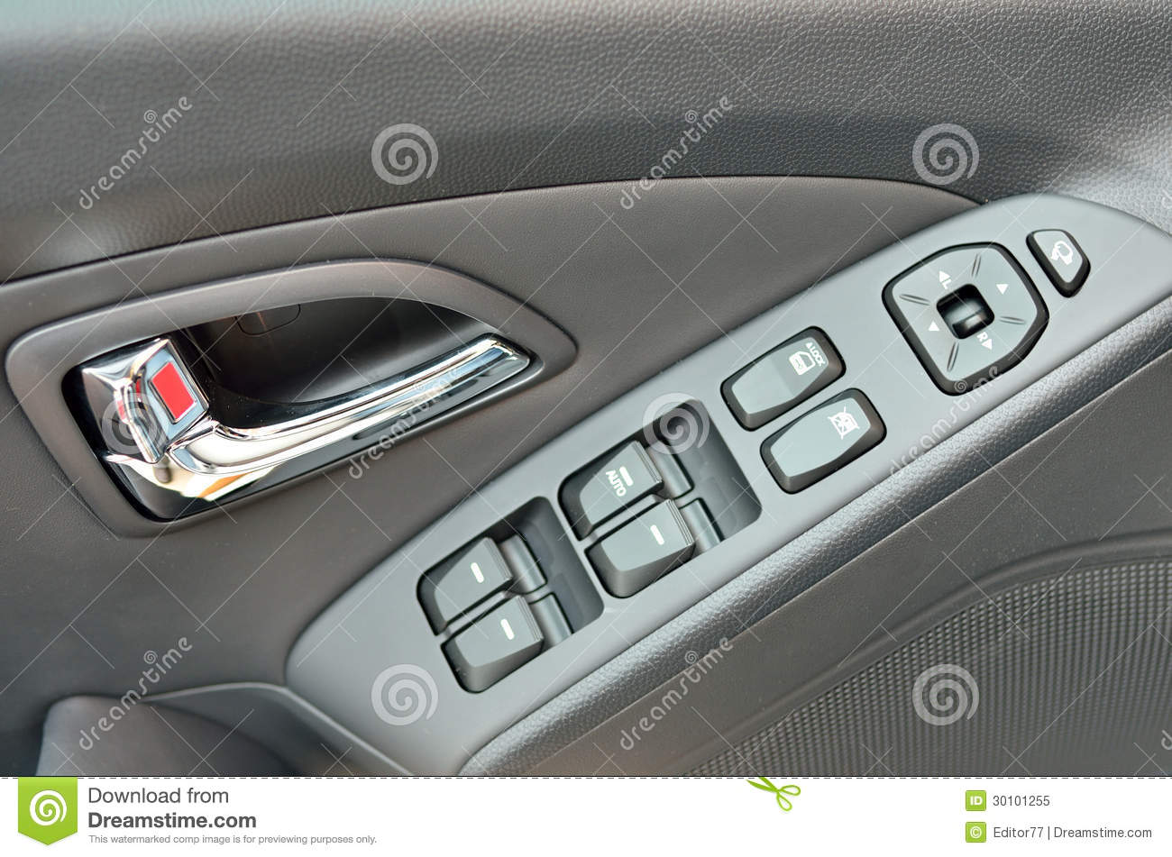 buttons car door ... & Car Door Buttons Details Royalty Free Stock Photo - Image: 30101255 Pezcame.Com