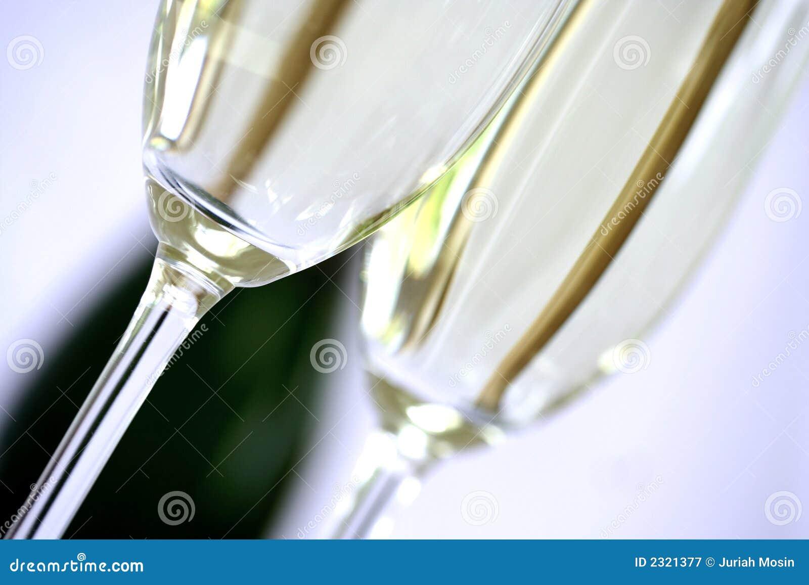 Closeup champagne flute