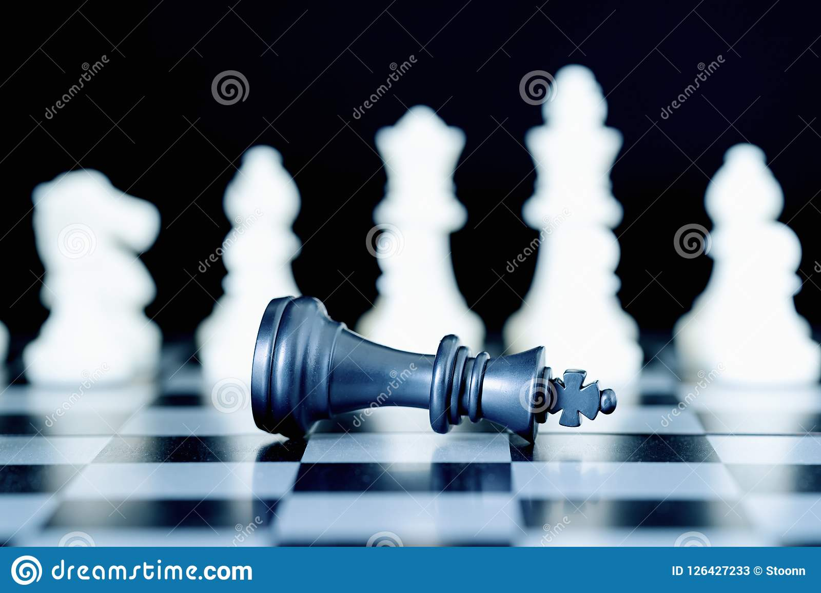 Closeup Chess Pieces On Chessboard Stock Image Image Of
