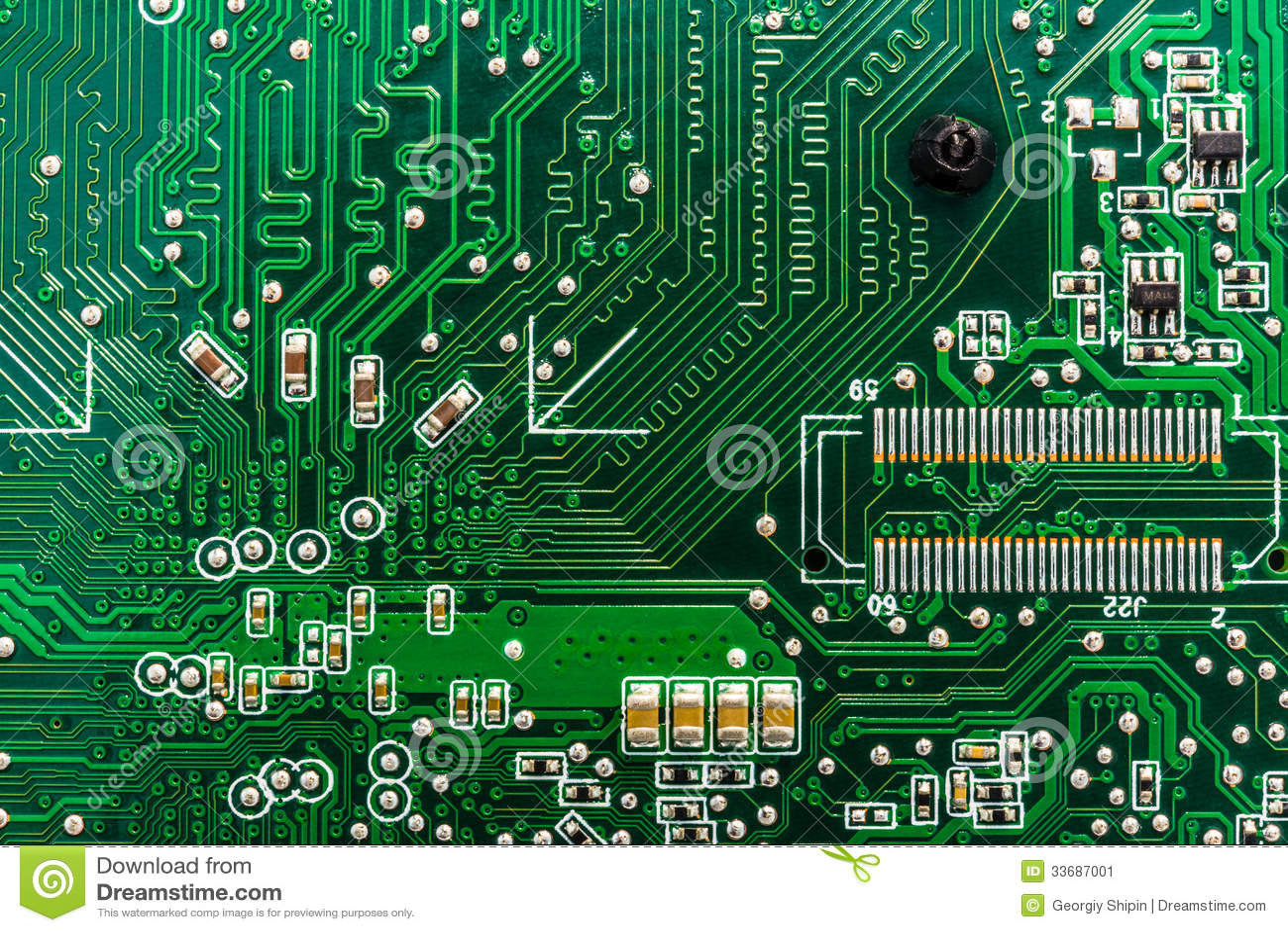 Closeup Of Circuit Board Stock Image Image 33687001