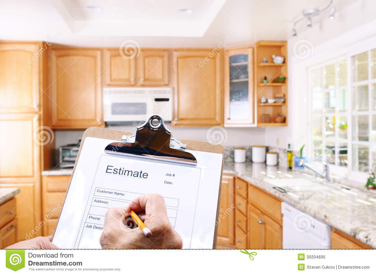 Contractor Writing Estimate Royalty Free Stock Photo