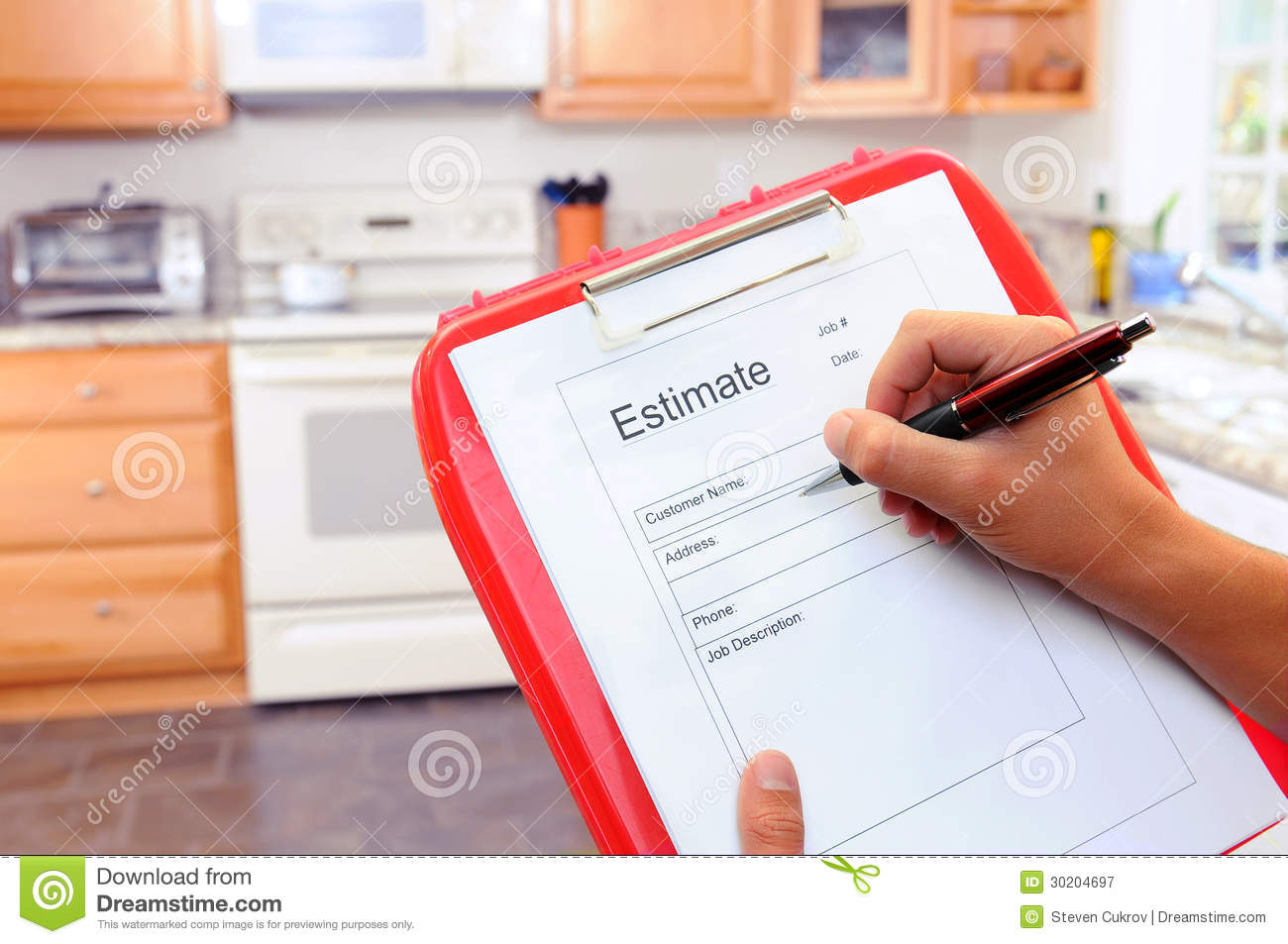 contractor writing estimate royalty stock photography image contractor writing estimate