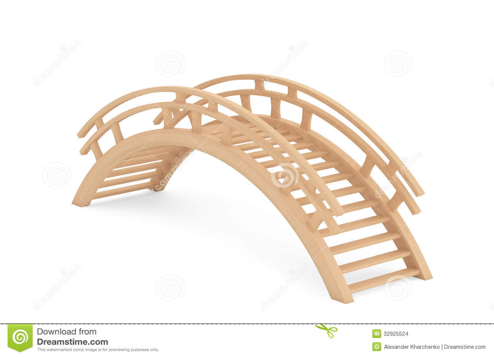 Closeup 3d Wooden Bridge Stock Images - Image: 32925524