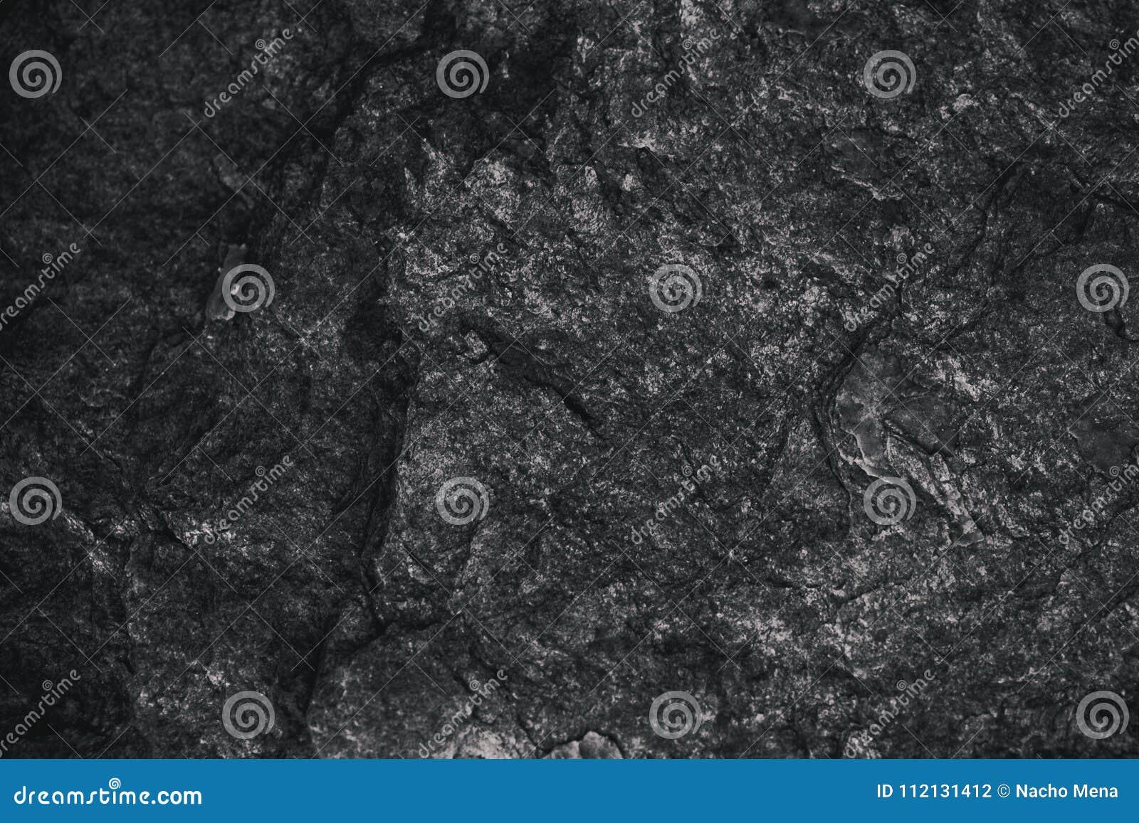 Rough Texture Background: Closeup Of Dark Textured Background. Gray Rough Texture
